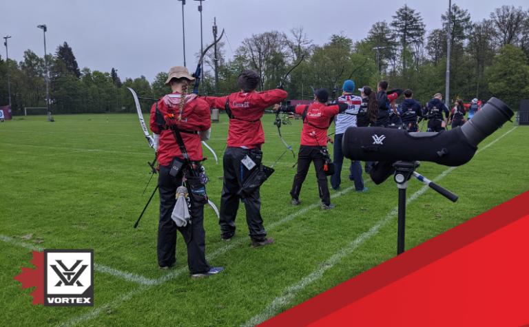 Vortex Canada conclut un accord et vient au soutien des équipes nationales à titre de partenaire optique officiel de Tir à l'arc Canada
