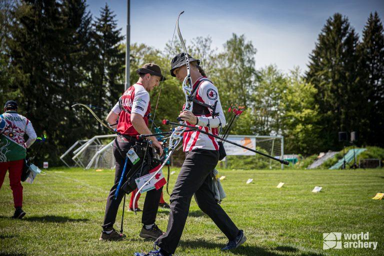 L'équipe mixte canadienne se rend au match pour la médaille de bronze à la Coupe du monde de tir à l'arc de Lausanne