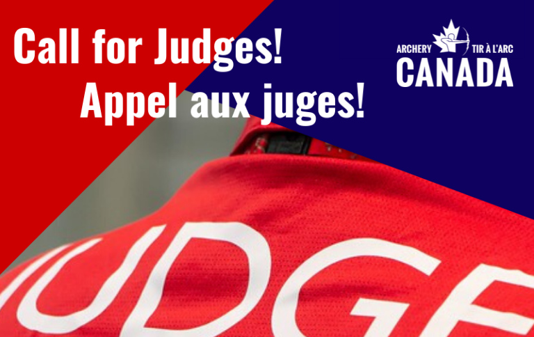 Archery Canada's Call for Judges